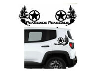 Jeep Renegade Trailhawk Side Vinyl Decals Stickers Star Trees Name
