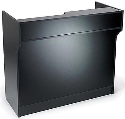4 Black Wooden Knockdown Ledge Top Counter Pos Counter 21d X 42h