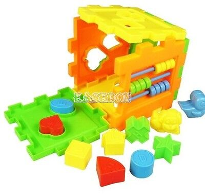 Baby Toy Set Kids Educational Wooden Toys Colorful Blocks and Puzzle Game EA