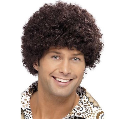 High Quality Mens 70s Disco Dude Afro Wig Brown Boogie Night Fever Fancy Dress](Boogie Nights Costume)