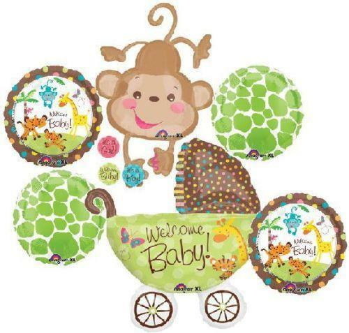 Baby shower animal decorations ebay for Animal decoration games for girls