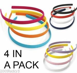 Pack-of-4-Alice-Bands-Headband-Fabric-Hair-Head-Band-Girls-Sets-School