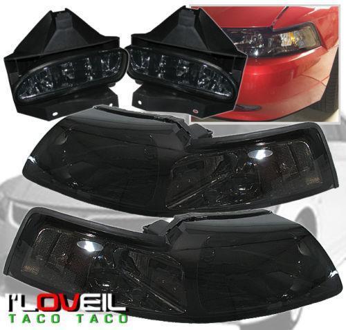 03 mustang smoked headlights ebay for 03 cobra floor mats