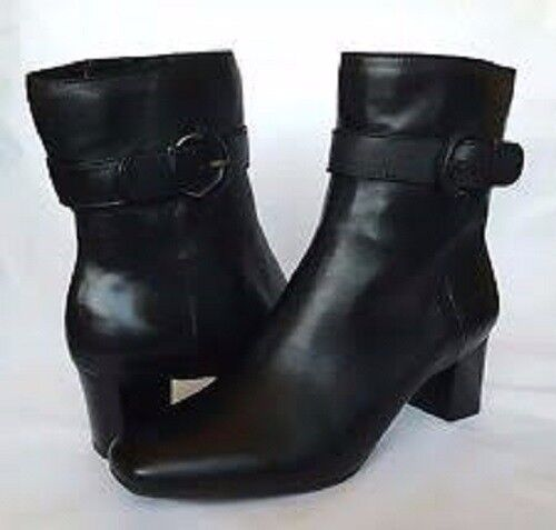 Ladies Real Leather Ankle Boots Size 4 5 6 7 8 New in Box