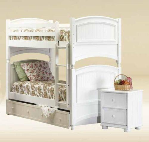 White Wood Bunk Beds Ebay