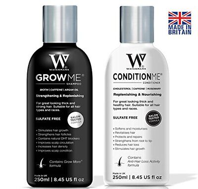 Hair Growth Shampoo and Conditioner by Watermans - Combo Pack - Can reduce hair