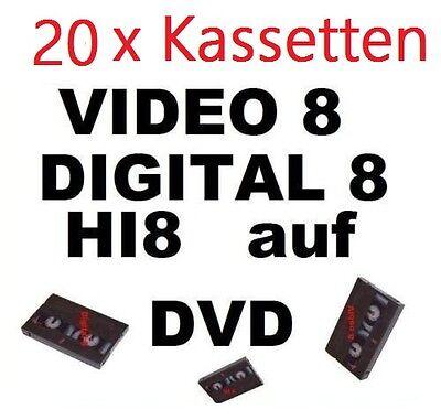 20 x VHS-C, Video 8, Hi8, MiniDV auf DVD digitalisieren