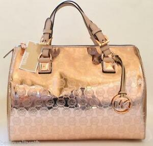 Michael Kors Rose Gold Metallic Handbag