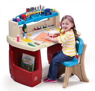Children Activity Desk Kids Art Master Table With Storage & Chair Craft Play Set - Children's Craft Table