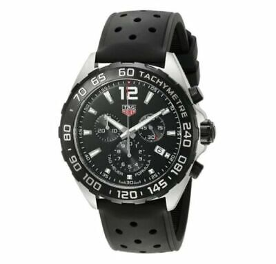 TAG HEUER Formula 1 Chronograph Black Dial Men's Watch Plastic Removed