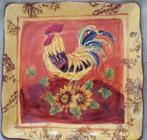 Decorative Rooster Plates Ebay