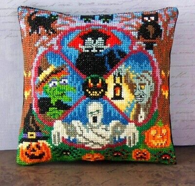 Bump in the Night Mini Cushion Cross Stitch Kit, Sheena Rogers Designs