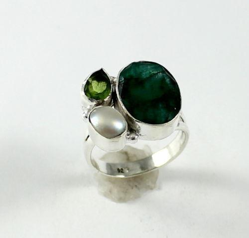 Fabulous Emerald Pearl Ring | eBay CV17