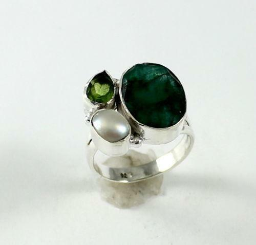 emerald pearl ring ebay