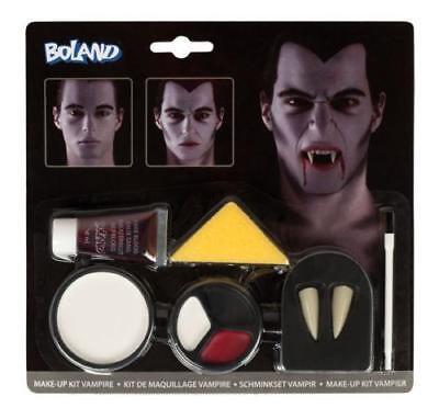 Schminkset Vampir Schminke Halloween Fasching Make-up Vampirzähne 45083 ()