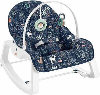 Fisher-Price Infant-to-Toddler Rocker – Moonlight Forest Baby Rocking Chair w...