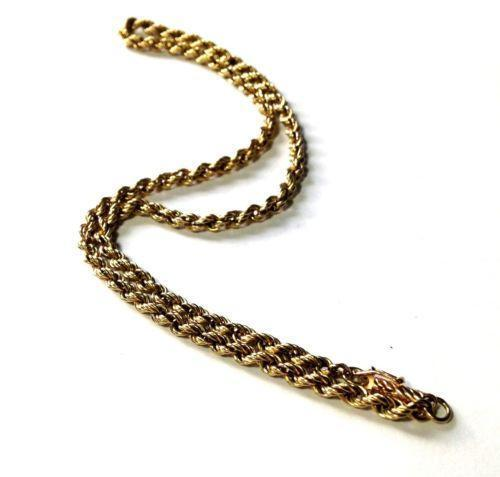 Thick Gold Rope Chain | eBay