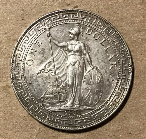 Great Britain - 1930-B Large Silver Trade Dollar - Popular