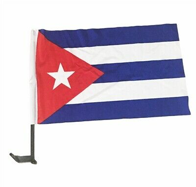 "12"" x18"" Cuban Car Window Flags"
