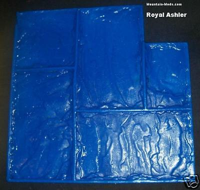 Royal Ashler Slate Decorative Concrete Cement Plaster Stamp Rigid Mat Whandles