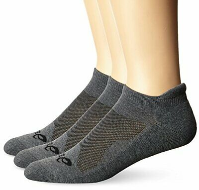 ASICS Unisex Cushion Low Cut Socks  Grey Heather Large
