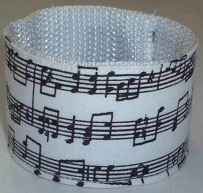 Music Notes Slap Bracelet Wristband Hot Pop Musician Rock Star Funky Fun 80s 90s - 90s Slap Bracelets