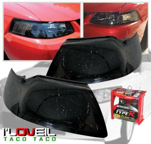 mustang 1 piece headlights ebay. Black Bedroom Furniture Sets. Home Design Ideas