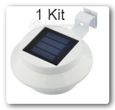 1 Kit Outdoor Solar Powered 3 LEDs Wall Path Landscape Mount Garden Fence Light (Landscape 1 Kit)