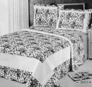 Black and White Bedspread