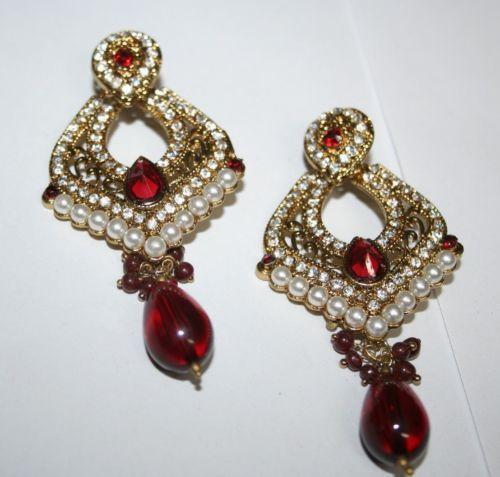 Elegant Indian Gold Earrings  EBay