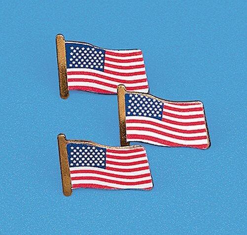 240 Patriotic USA Flag clutch pins - wholesale lot