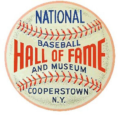 Cooperstown  NY Baseball Hall Of Fame  Vintage style Travel Decal Sticker MLB Cooperstown Ny Baseball
