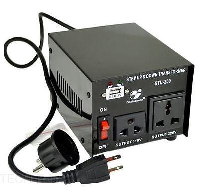 Goldsource STU-200 Step Up/Down Voltage Transformer Converter AC 110/220 V 200 W