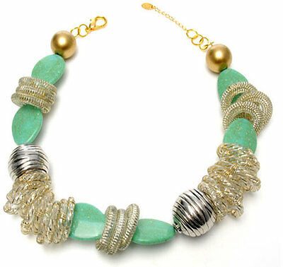 $150 Amrita Singh Gorgeous Aztec Gula Chunky 18k Gp Statement Boho Necklace