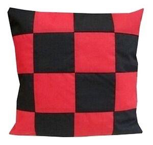 Housse de coussin damier rouge et noir 60cmx60cm ebay for Housse de coussin noir