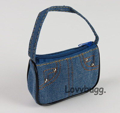"Lovvbugg Light Denim Purse Bag for 18"" American Girl Doll Clothes"