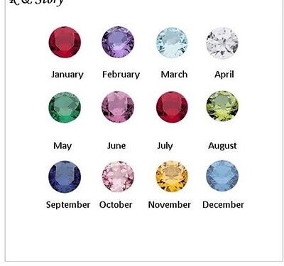 4mm Round Birthstone Charm for Floating Glass Living Memory Locket