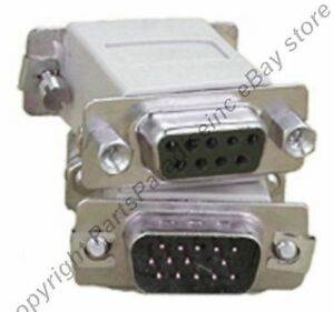 SVGA-VGA-HPDB15-HD15-pin-Male-DB9-pin-Female-Video-Monitor-Cable-Cord-Adapter