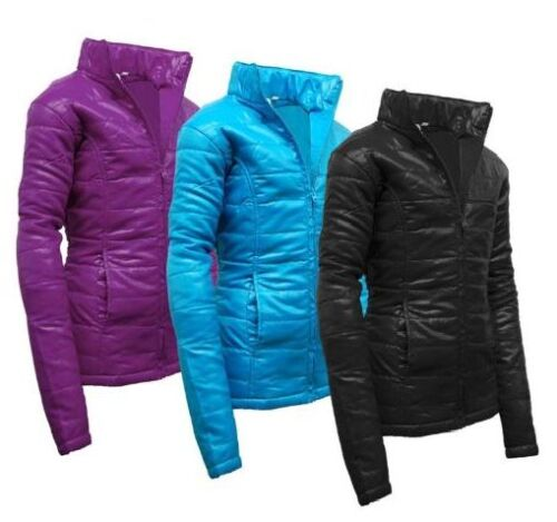 196e18695af3 New Girls Kids Quilted Puffa Padded Jacket Coat Back to School Black ...
