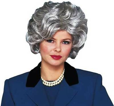 1950S 50'S ADULT WOMENS SILVER GREY SHORT WAVY CLASSY OLD LADY COSTUME WIG](Old Lady Wig)