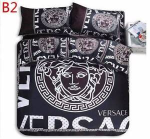 BRAND NEW VERSACE 4 PC QUEEN BED QUILT COVER PILOWCASES SHEET SET Greenwith Tea Tree Gully Area Preview