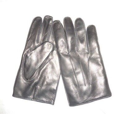 Medium Leather Glove - COACH Men's Basic Nappa Cashmere Lined Leather Gloves BLACK NWT 82863 medium M