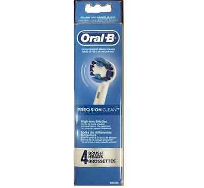 4 ORAL-B Precision Clean Replacement Toothbrush Teeth Tooth Brush Heads Packs