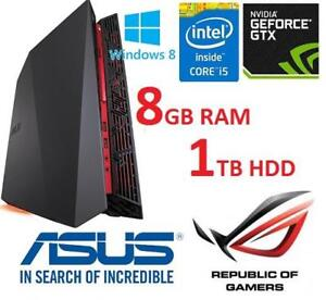 REFURB ASUS ROG GAMING DESKTOP PC G20AJ-US023S 156337555 I5 4460 8GB RAM 1TB HDD 8GB SSD WIN 8 OS COMPUTER