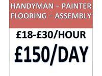 £30-18/h Handyman,Flooring,Assembly,Painting,Leytonstone,Leyton,Walthamstow,Ilford,Barnet,Hackney