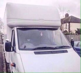 Hire big size van with man from £20 - - - - LWB luton van with tail lift for moves/haulage/removals