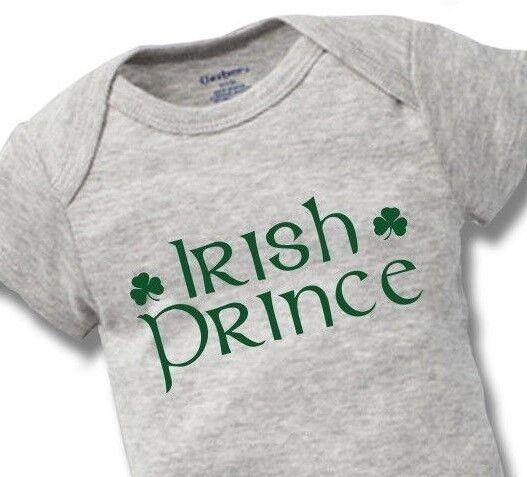 Irish Prince Onesies Baby Gift Funny Cute Boy Girl Clothes I