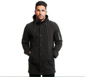 Men's black coat (brave soul shelby soft shell Mac black)