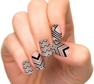 INCOCO Nail Applique Wraps Strips Made With 100% Real Nail Polish - STREET SMART