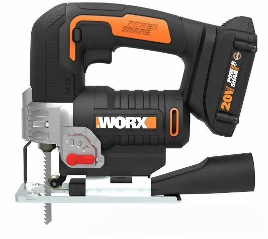 WORX WX543L 20V Powershare Cordless Jigsaw with Dual Switch  Handle